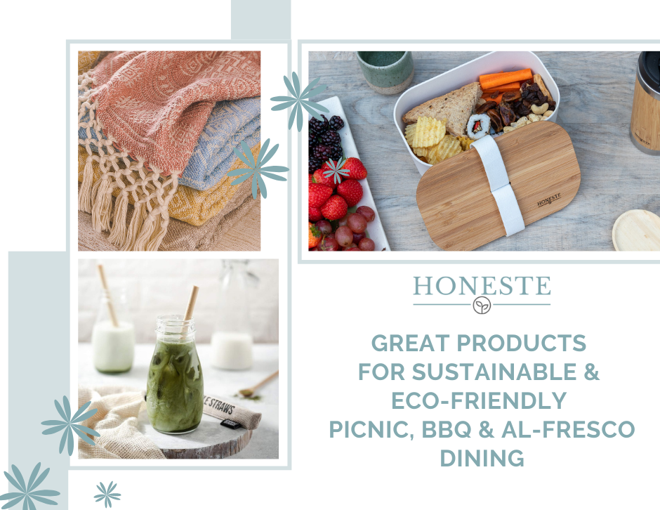 Great Products for a sustainable and eco-friendly picnic, BBQ or al-fresco dining