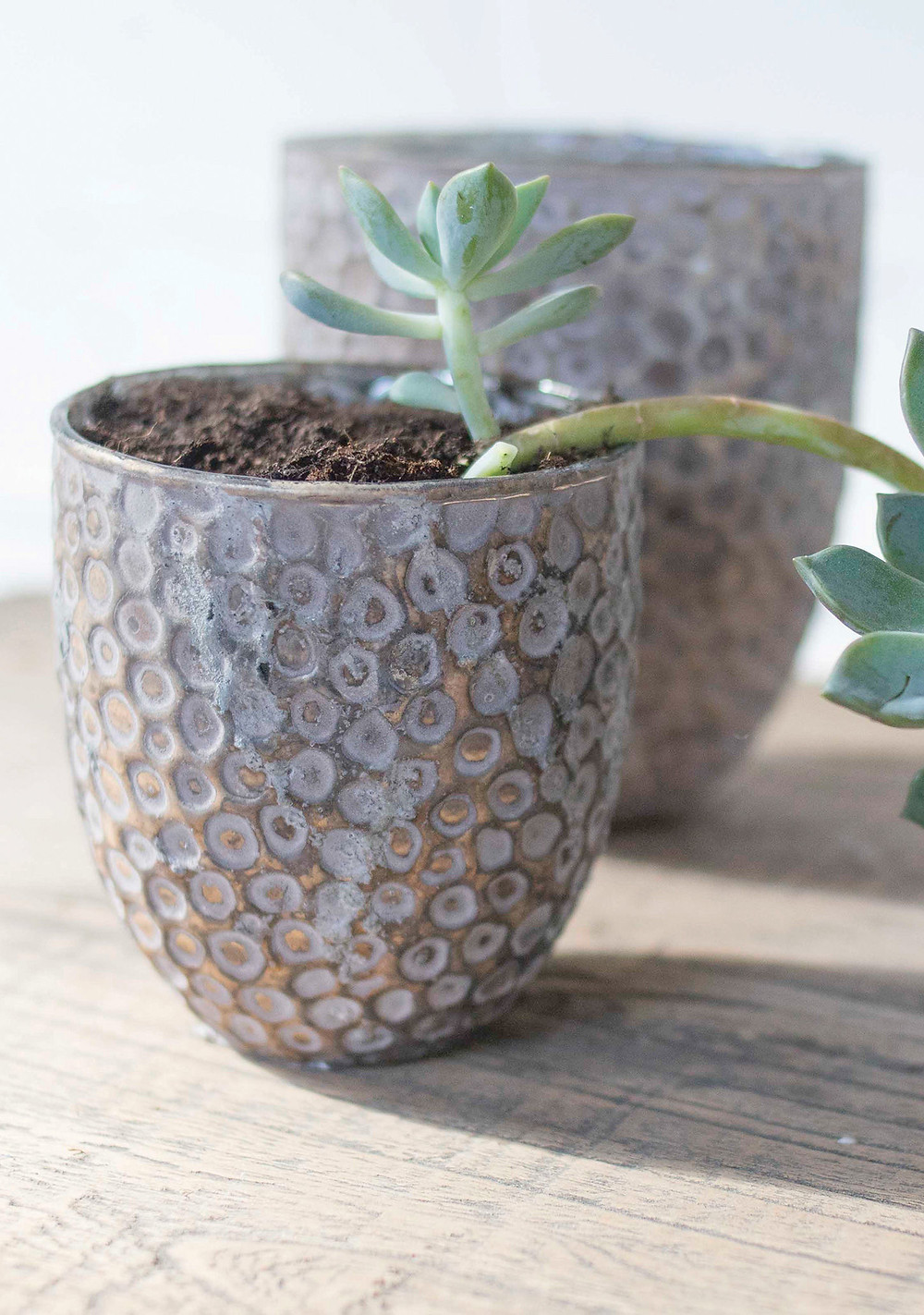 Recycled Glass 2-in-1 Planter And Tealight Holder