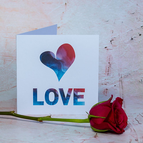 Handmade British Craft Eco-Friendly Love birthday/anniversary/wedding Card