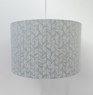 Weave and Wander Recycled Fabric Lampshade - Grey