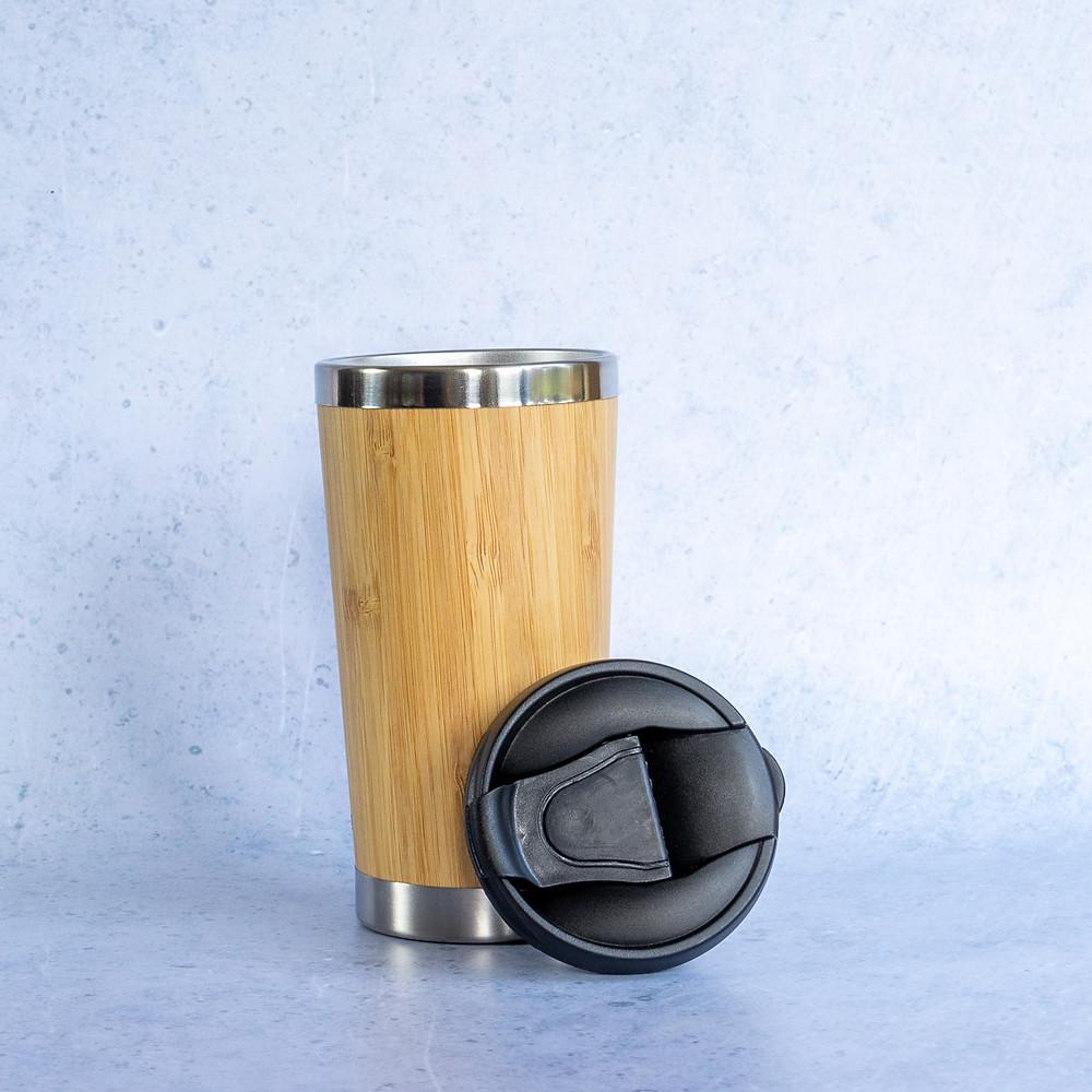 Tea, coffee reusable bamboo drinks cup