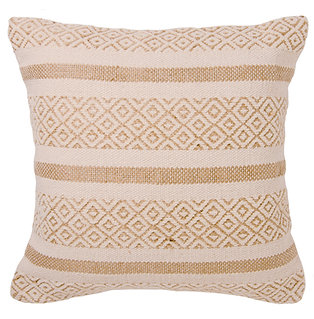 Eco-Friendly Recycled Cotton & Natural Jute Cushion Cover