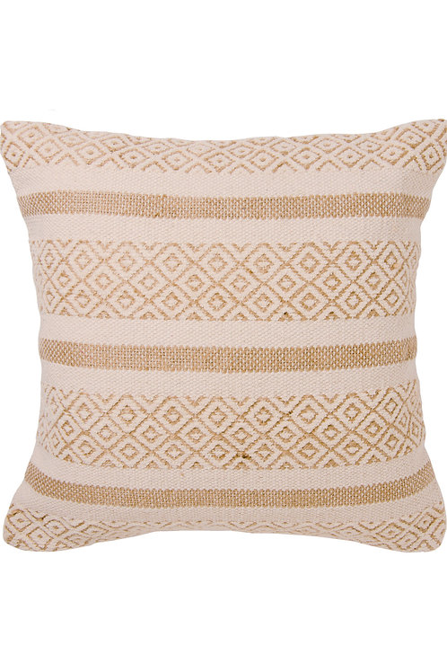Eco-Friendly Handmade Recycled Cotton and Organic Jute Cushion Cover