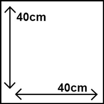 40cm x 40cm