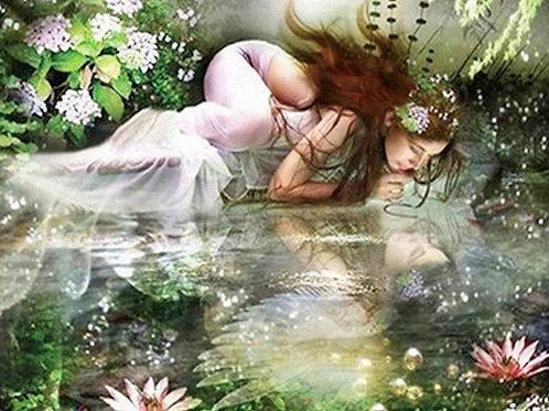 les reflets de la sirène dans l'eau