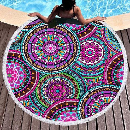 grande serviette de plage mandala