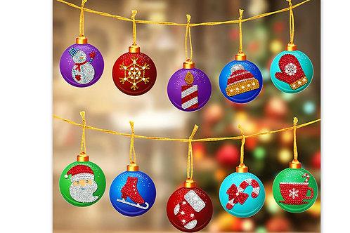 10 Boules Noel ( cartons plates)