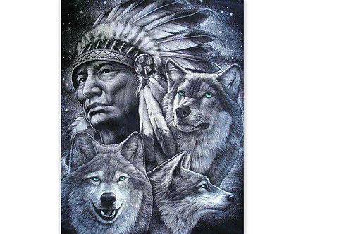 indiens et loups