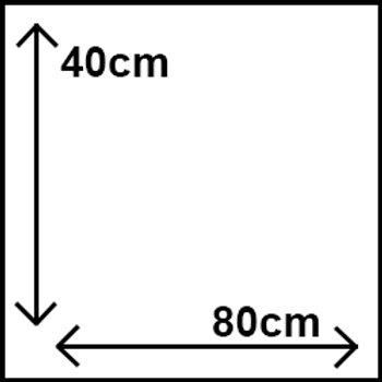 40cm x 80cm