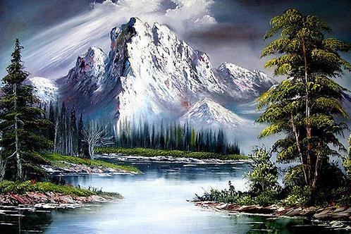 La montagne enneigée( plus en stock précommande possible)
