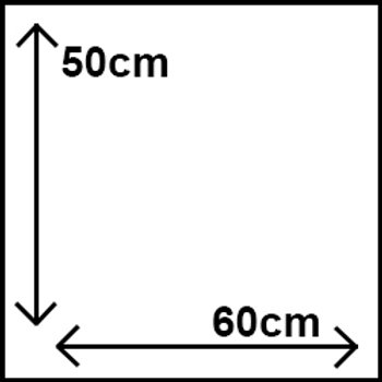 50cm x 60cm
