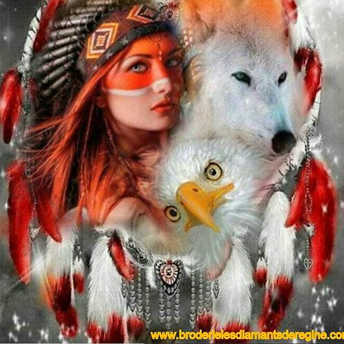 l'indienne, le loup, l'aigle