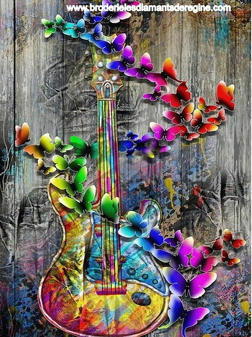 Guitare papillons