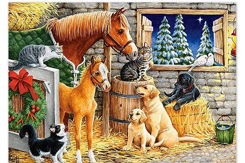 les copains dans la grange