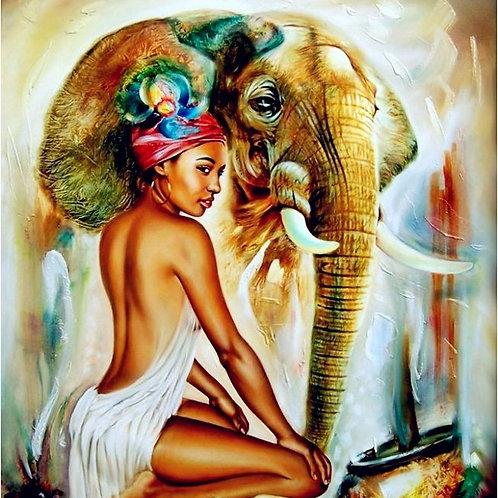 l'africaine et l'éléphant