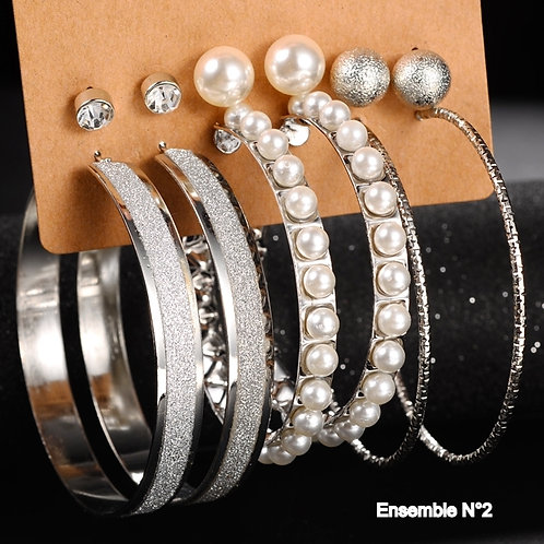 6 paires de bijoux fantaisies n°2