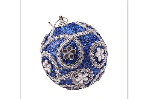 Boule de noël bleue