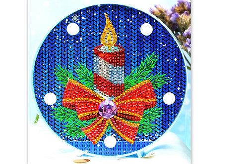 décoration lumineuse avec des diamants (bougie)