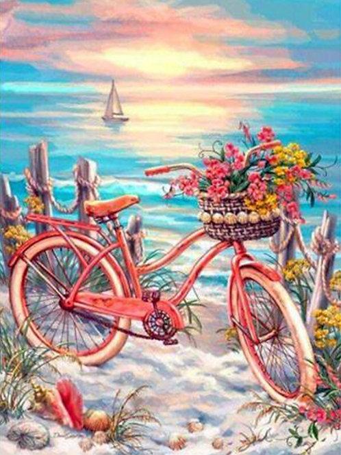 la bicyclette au bord de la mer