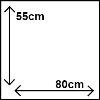 55cm x 80cm