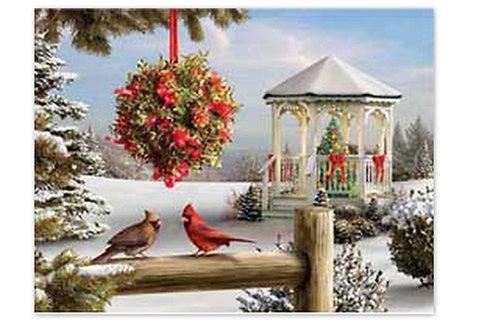Le kiosque sous la neige