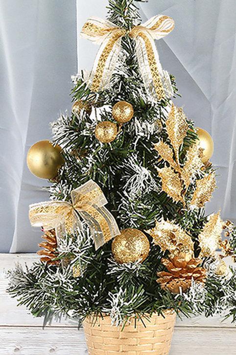 petit sapin décoratif doré