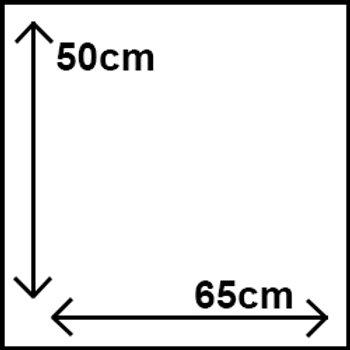 50cm x 65cm