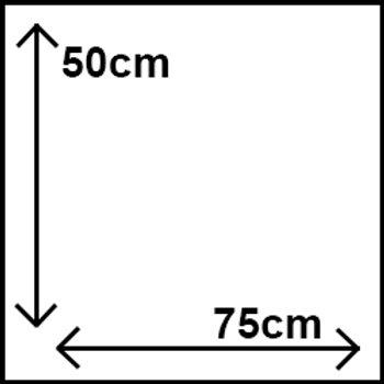 50cm x 75cm