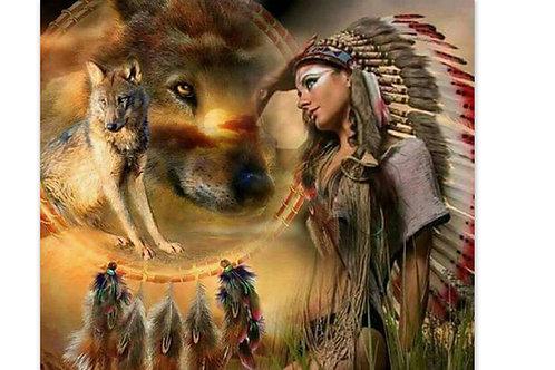 Indienne, loups attrape rêves