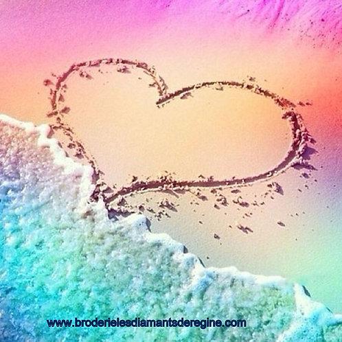 Le cœur sur la plage