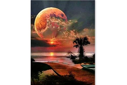 Clair de lune sous les cocotiers