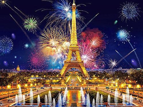 tour Eiffel feu d'artifice( plus en stock précommande possible)