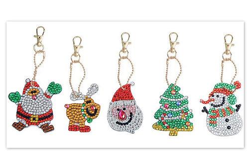 lot de 5 porte clés Noel (2)