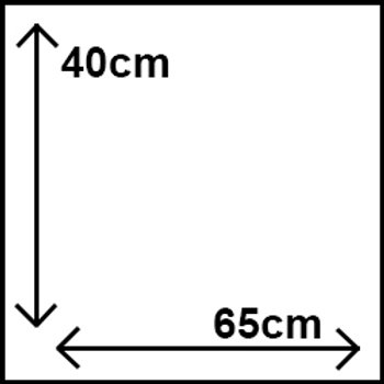 40cm x 65cm