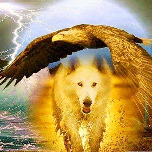 le loup et l'aigle