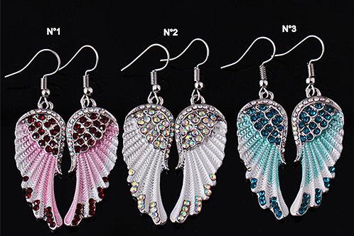 Boucles d'oreilles fantaisies ailes