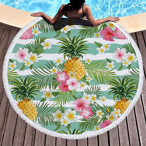 grande serviette de plage ananas(rupture de stock précommande possible)