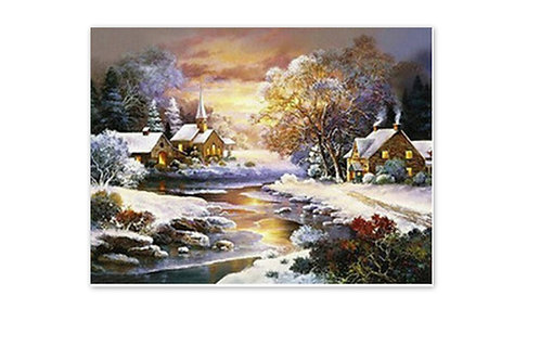 un village en hiver