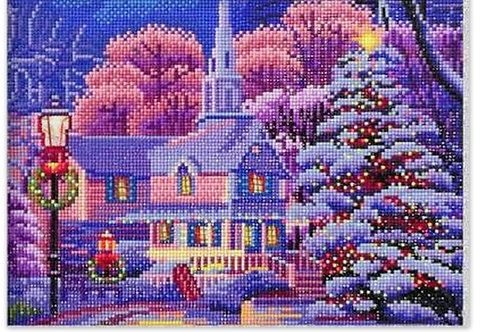 paysage d'hiver avec leds incorporé