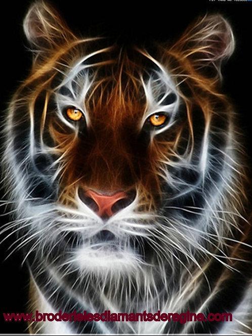 Tête tigre feu