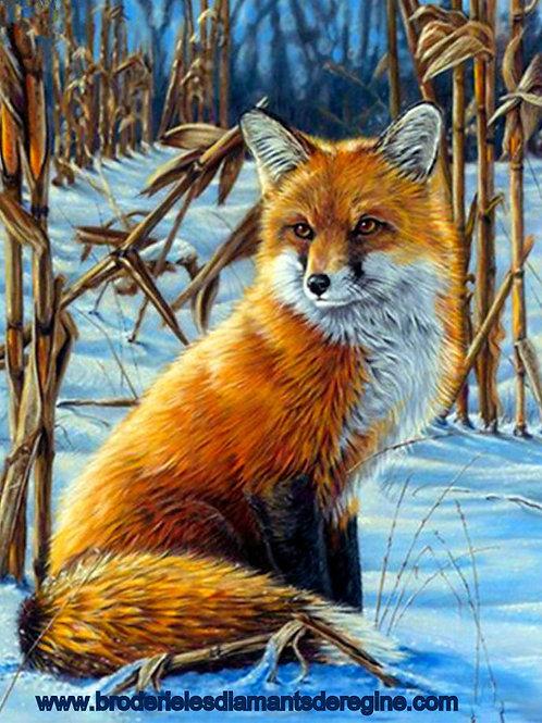 le renard une journée d'hiver