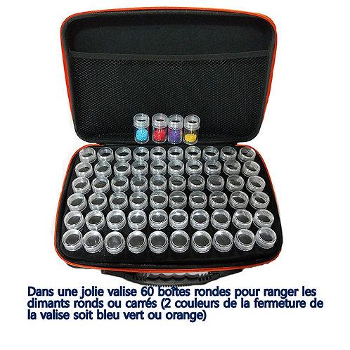 Très jolie valise noire fermeture éclair Rouge,Rose,Pourpre,Bleu vert, orange