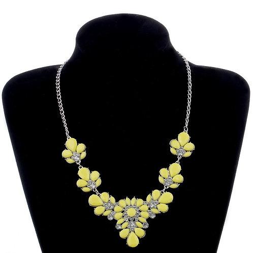 collier fantaisie jaune
