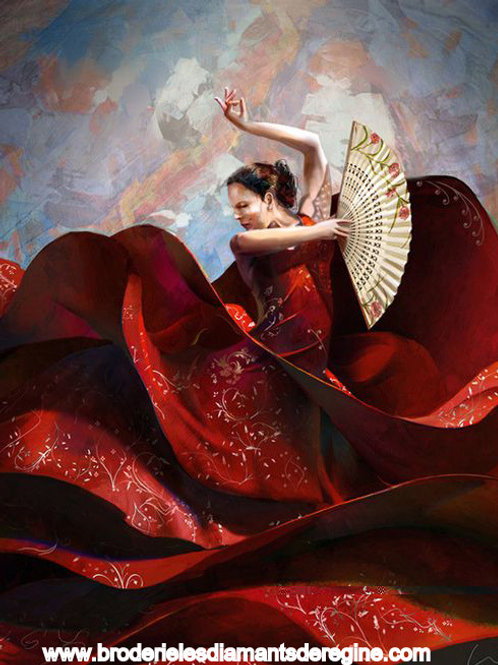 Danseuse de flamenco espagnol