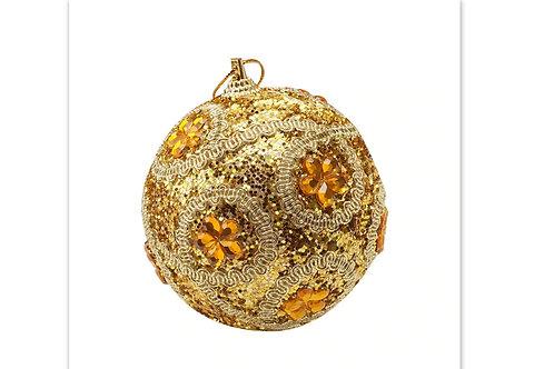 boule de noël or