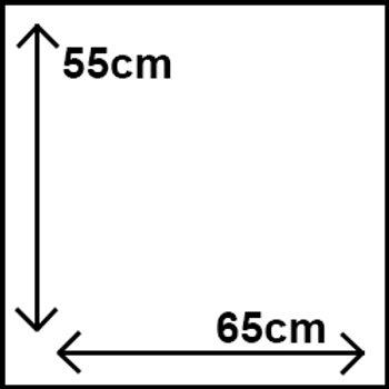 55cm x 65cm