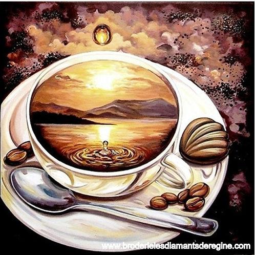 Tasse café paysage
