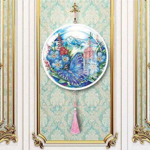 Broderie diamant décorative avec pompon
