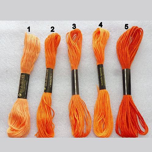 Échevettes de fil à broder 6 brins 8m