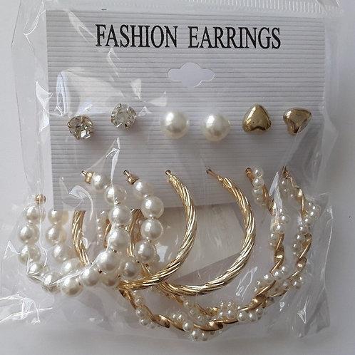 6 paires de bijoux fantaisies